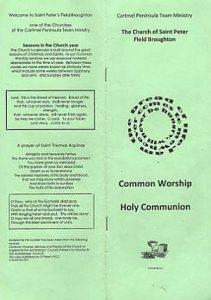 Common Worship Holy Communion